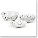 Lenox Butterfly Meadow Dinnerware 7 Piece Pasta Salad Set