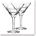 Orrefors Crystal, Street Crystal Martini, Pair