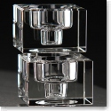 Orrefors Crystal, Totem Balance Crystal Candlestick Clear, Pair