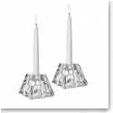 Orrefors Crystal, Plaza Crystal Candlestick Crystal Votive, Pair