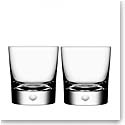 Orrefors Crystal, Intermezzo Satin Crystal Old Fashioned Tumbler, Pair