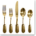 Ralph Lauren Wentworth Flatware Gold, 5 Piece Place Setting