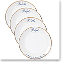 Ralph Lauren China Ralphs Paris Canape Plates, Set of 4