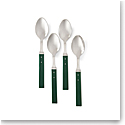 Ralph Lauren Ronan Set of 4 Cafe Spoons, Green