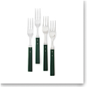 Ralph Lauren Ronan Set of 4 Appetizer Forks, Green