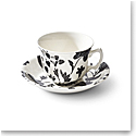 Ralph Lauren China Garden Vine Tea Cup and Saucer, Black
