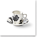 Ralph Lauren China Garden Vine Espresso Cup and Saucer, Black