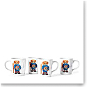 Ralph Lauren Haven Ski Bear, Set of Four Mugs