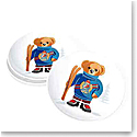 Ralph Lauren Haven Ski Bear, Set of Four Dessert Plates