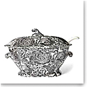 Ralph Lauren China, Faded Peony Soup Tureen, Black