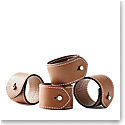 Ralph Lauren Wyatt Set of Four Napkin Rings, Saddle