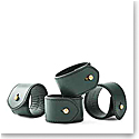 Ralph Lauren Wyatt Set of Four Napkin Rings, Green