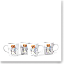 Ralph Lauren China, Haven Ruby Bear Set of Four Mugs