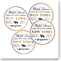Ralph Lauren China RL New York, Set of Four Canape Plates