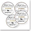 Ralph Lauren China RL Paris, Set of Four Canape Plates