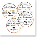 Ralph Lauren China RL Hong Kong, Set of Four Canape Plates