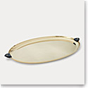 Ralph Lauren Wyatt Oval Platter, Navy and Gold