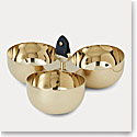 Ralph Lauren Wyatt Triple Nut Bowl, Navy and Gold