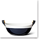 Ralph Lauren China Wyatt Salad Bowl, Navy and White