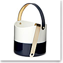 Ralph Lauren China Wyatt Ice Bucket and Tong, Navy and White
