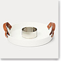 Ralph Lauren China Wyatt Serving Tray with Bowl, Saddle