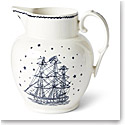 Ralph Lauren China Northern Star Etruscan Pitcher, Indigo