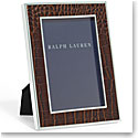 "Ralph Lauren Chapman Chocolate Brown 5x7"" Picture Frame"