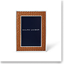"Ralph Lauren Brockton 4""x6"" Frame, Saddle"