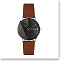 Orrefors Crystal O-Time Chestnut Gunmetal Dial Watch