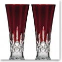 Waterford Crystal, Lismore Red Crystal Pilsner, Pair