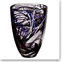 Kosta Boda Contrast Crystal Vase, Black