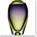 "Kosta Boda Vision Purple and Green 10 1/4"" Vase"