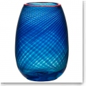 "Kosta Boda Red Rim 9 3/4"" Crystal Vase"