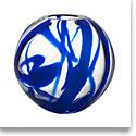Kosta Boda Art Glass Anna Ehrner Blue Globe Crystal Vase