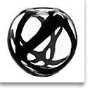 Kosta Boda Black Globe Crystal Vase