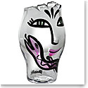 Kosta Boda Open Minds Crystal Vase, Clear and Pink