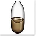"Kosta Boda Crystal Septum Brown 15.75"" Vase Limited Edition 300"