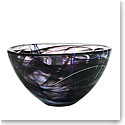 Kosta Boda Contrast Medium Crystal Bowl, Black