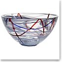 Kosta Boda Crystal Contrast Large Bowl, Grey