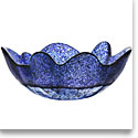 Kosta Boda Organix Medium Crystal Bowl, Stormy Blue
