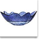 Kosta Boda Organix Large Crystal Bowl, Stormy Blue