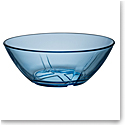 Kosta Boda Bruk Water Blue Crystal Bowl, Set of Four