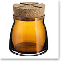 Kosta Boda Bruk Jar with Cork Amber, Small