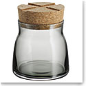 Kosta Boda Bruk Jar with Cork Grey, Small