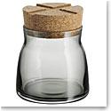 Kosta Boda Bruk Jar with Cork Grey, Small