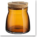 Kosta Boda Bruk Jar with Cork Amber, Medium