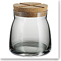 Kosta Boda Bruk Jar with Cork Grey, Medium