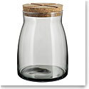 Kosta Boda Bruk Jar with Cork Grey, Large