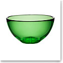 Kosta Boda Bruk Crystal Serving Bowl, Apple Green