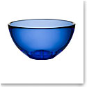 Kosta Boda Bruk Crystal Serving Bowl, Water Blue